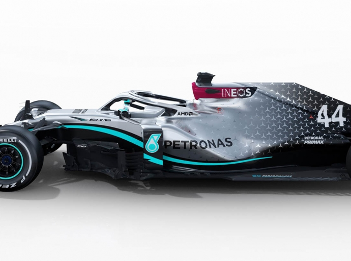 New Mercedes F1 car hits the track at Silverstone