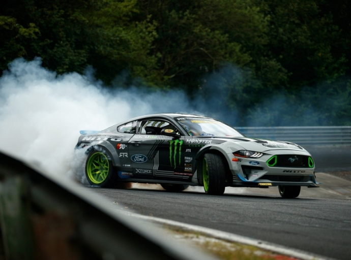 "Watching the Ford Mustang drift at Nurburgring ""Green Hell"""